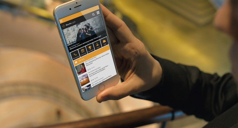Valo mobile Ansicht Intranet
